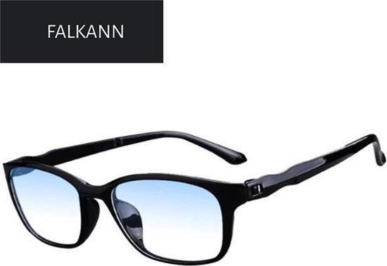 Trendy Blue Light Leesbril - Computer Bril - Blauw licht filter - zwart - sterkte +1.50
