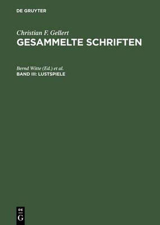 Boek cover Lustspiele van Christian F Gellert (Hardcover)