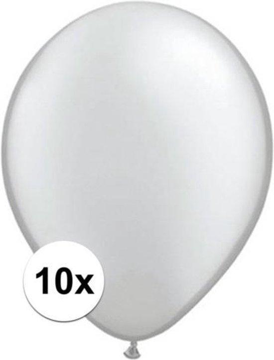 Qualatex ballonnen metallic zilver 10 stuks