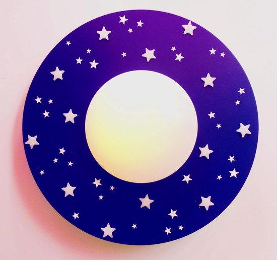 Funnylight LED 40 cm kinderlamp sterrenhemel donker blauw-glow in the dark sterren