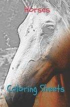 Horses Coloring Sheets