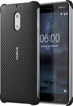 Nokia carbon fibre look back case - zwart - voor Nokia 6