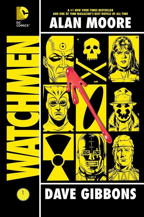 Boek cover Watchmen van A. Moore (Onbekend)