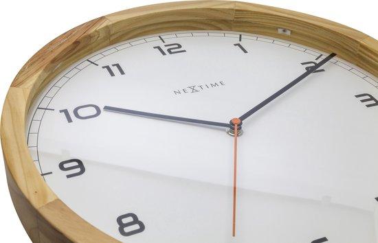 NeXtime Company Wood - Klok - Rond - Ø35 cm - Licht houtkleurig - NeXtime
