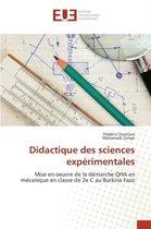 Didactique Des Sciences Exp rimentales