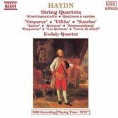 Haydn: String Quartets, Op 76 no 2-4 / Kodaly Quartet