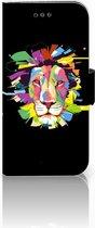 Samsung Galaxy A3 2017 Uniek Bookcase Hoesje Lion Color