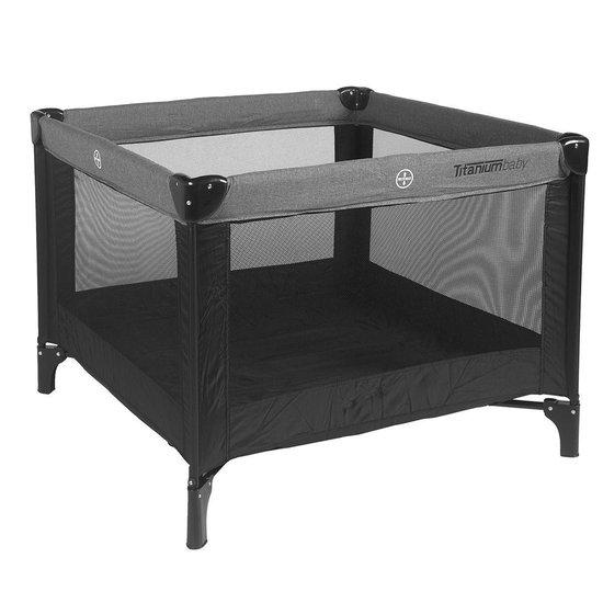 Titaniumbaby Inklapbare Box 100X100 cm - Zwart / Melange