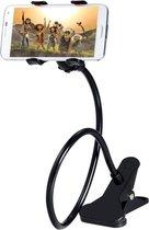 Dieux® telefoonhouder  Zwarte | Metalen - Met klem