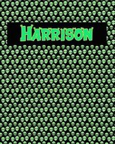 120 Page Handwriting Practice Book with Green Alien Cover Harrison