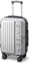 Swiss Alpine - Lausanne Handbagage koffer 55x40x23 cm - 4 Wielen - TSA-cijferslot - Zilver/Grijs