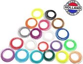 3D pen filament pakket 20 kleuren PLA/ABS - 100 meter