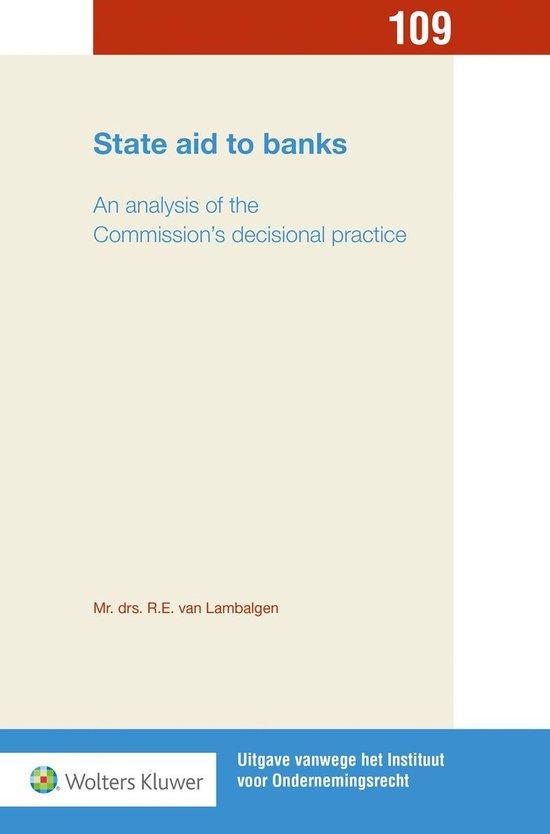 State aid to banks - R.E. van Lambalgen |
