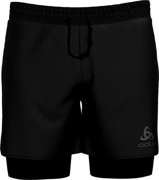 Odlo 2-In-1 Shorts Millennium Linencool Pro Heren Sportbroek - Black-Black - Maat L