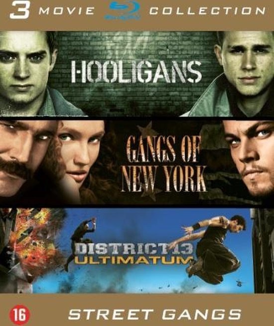 Cover van de film 'Hooligans/Gangs Of New York/District 13 Ultimatum'