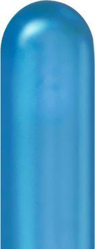 Modelleerballonnen Chrome Blue - 100stuks