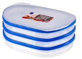 Curver Grandchef Vleeswarendoos - 3 Compartimenten - Transparant/Blauw