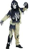 Zombie skelet pak voor kinderen 116  - 4-6 jr