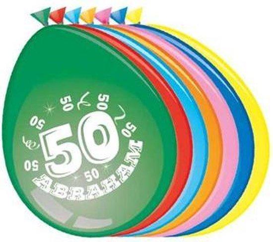 Ballonnen 50 jaar Abraham 8 stuks 30 cm