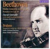 Beethoven: Violin Concerto in D Op. 61; Romance in G Op. 40; Brahms: Sonata in D minor Op. 108