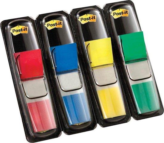 Afbeelding van Post-it® Index Small - Standaard Dispenser - Rood, Blauw, Geel, Groen