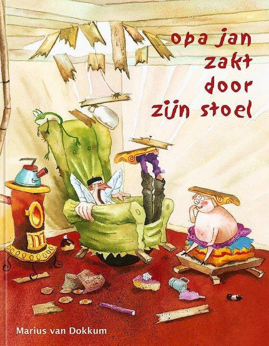 Boek cover Opa Jan zakt door zijn stoel van Marius van Dokkum (Hardcover)