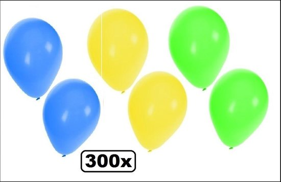 300x Brazilie ballonnen - ballon helium landen festival Brasil feest decoratie party