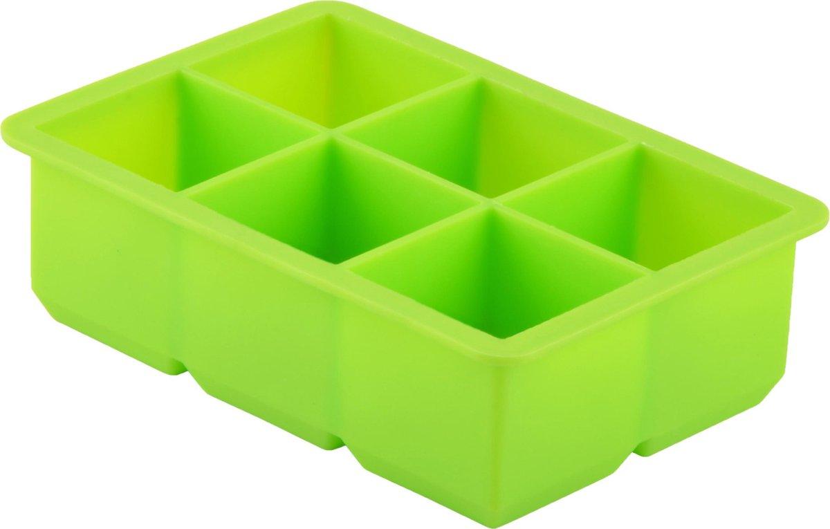 Dotz - Silicone ijsblokjesvorm - Kubus - Groen - 4,8x4,8x4,8cm