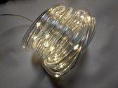 5 meter - LED lichtslang op batterij - warm wit  - met 8 lichtstanden en timerfunctie
