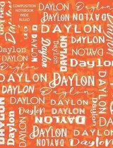 Daylon Composition Notebook Wide Ruled