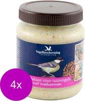 Wildbird Vogelbescherming  Pindakaas Tuinvogel Meelworm - Buitenvogelvoer - 4 x 330 g