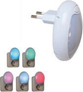 Nachtlampje LED | Gekleurd licht | Nachtlamp stopcontact | Nachtlamp voor volwassenen | Nachtlampjes