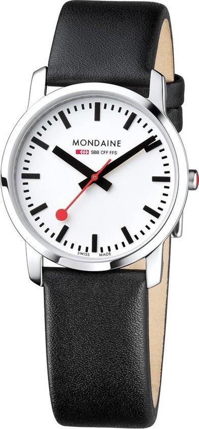 Mondaine A400.30351.11SBB Simply Elegant – Horloge – 36 mm – Glanzend RVS.