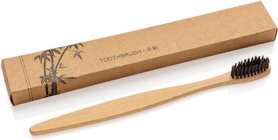 Bamboe tandenborstel met houtskool haren