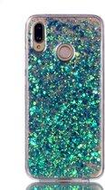 Huawei P20 Lite Hoesje - Glitter TPU - Blauw