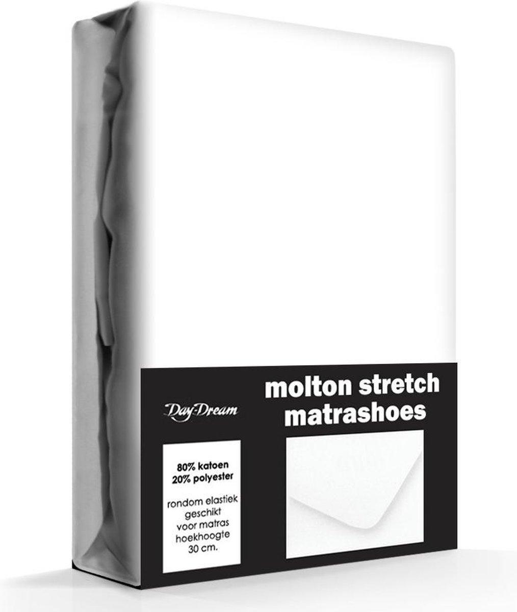 Day Dream - Stretch - Molton - Hoeslaken - Lits-jumeaux - 190x220 cm - Wit - Day Dream