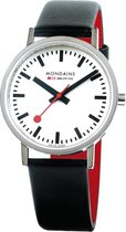 Mondaine Classic A660.30314.11SBB Horloge - Leer - Zwart - Ø36 mm