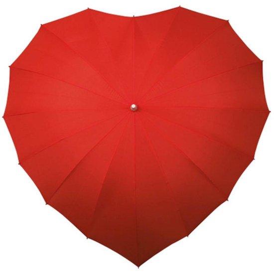 MikaMax - Hart Paraplu - Rood - MikaMax