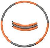 Weight hoop Soft - Fitness Hoelahoep - 1.5 kg - Ø 100 cm - Oranje/Grijs