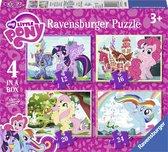 Ravensburger My little Pony 4in1box puzzel - 12+16+20+24 stukjes