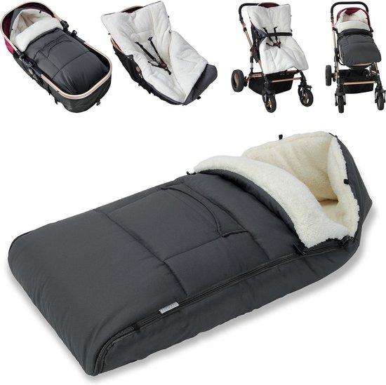 Voetenzak Voor in Kinderwagen of Maxi-Cosi - Winter - grijs
