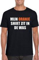Mijn oranje shirt zit in de was t-shirt zwart heren - Oranje Koningsdag/ Holland supporter kleding M