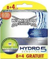 Wilkinson Sword Hydro 5 Scheermesjes - Sensitive Blades 12 stuks