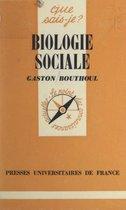 Biologie sociale