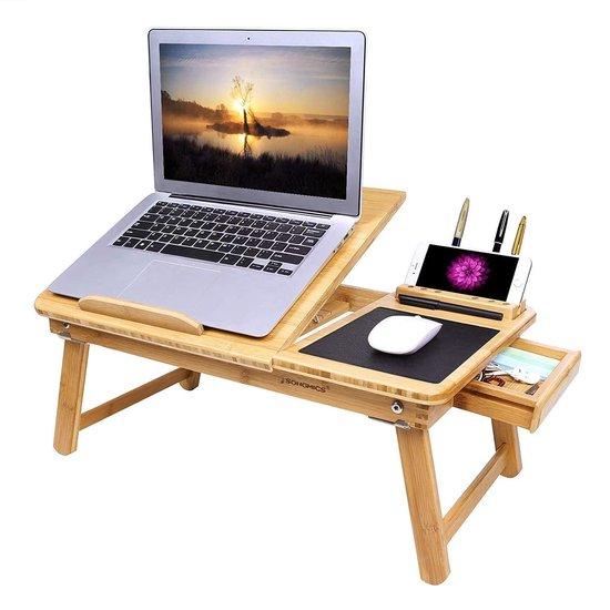 Nieuw bol.com   Houten Laptoptafel Met Muismat - Laptop Verhoger JD-79