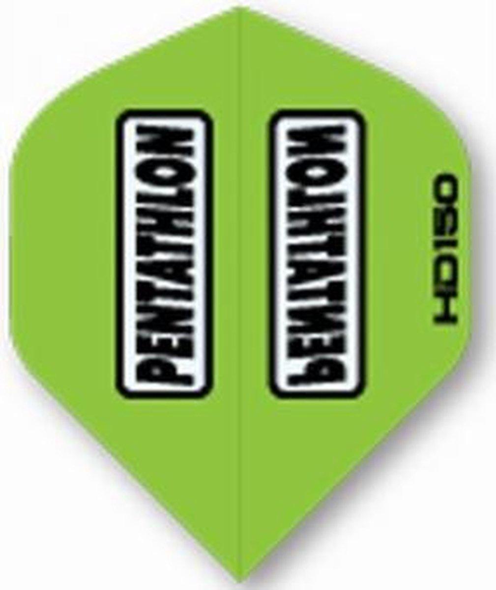 5 sets (15 stuks) Pentathlon flights HD 150 Green Std