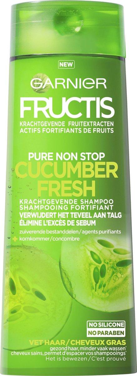 Garnier Fructis Pure Strong Cucumber Shampoo - 250ml - Haar dat snel vet wordt - Garnier