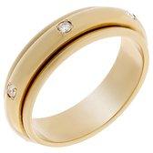 Orphelia TRD-DA05/B/DJ/54 - Ring - geelgoudkleurige 18 Karaat - Diamant 0.12 ct