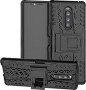 Rugged Hybrid hoesje voor Sony Xperia 1 - zwart