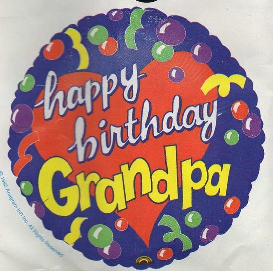 folieballon - happy birthday Grandpa